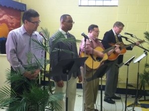 Singing men at Erwin
